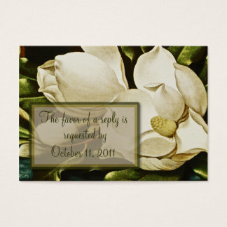 Magnolias que casan la tarjeta de contestación de
