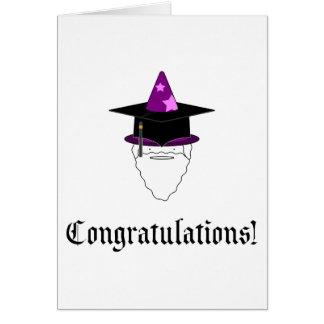 Mago de la graduación - tarjeta de felicitación