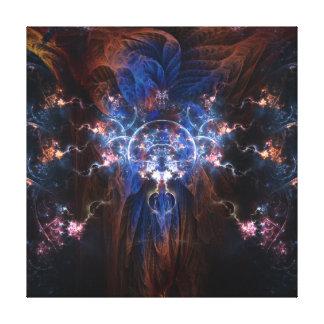Mago del fractal en la lona envuelta 16x16 impresión en lienzo