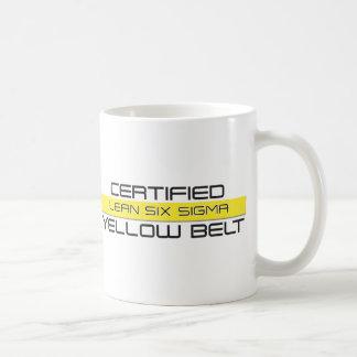 MAGRO seis tazas de café amarillas de la correa de