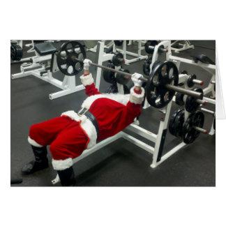 magro y Santa malo - día de fiesta tonto divertido Tarjeta