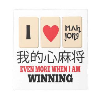 Mah Jong y el ganar Bloc De Notas