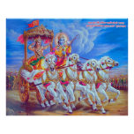 Mahabharat - señor Krishna y Arjun Poster