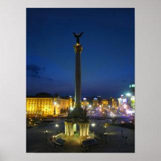 Maidan Nezalezhnosti Kyiv Póster