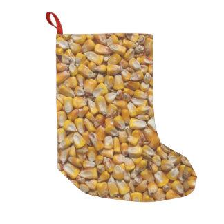 Maíz amarillo calcetín de navidad pequeño