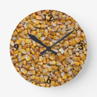 Maíz amarillo reloj redondo mediano
