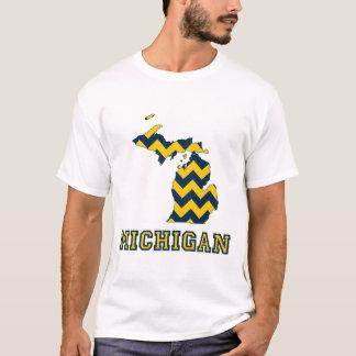 Maíz de Michigan y mapa azul del modelo de Chevron Camiseta