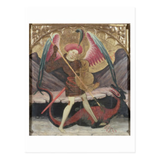 Mal de victoria de San Miguel, c.1480 (tempera en  Postal