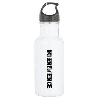 Mala influencia botella de agua