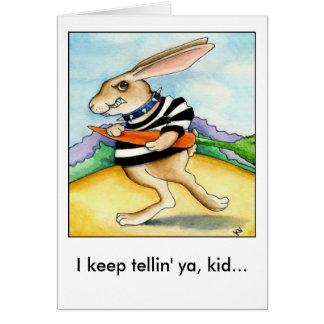 Mala tarjeta del conejito de pascua del día de las