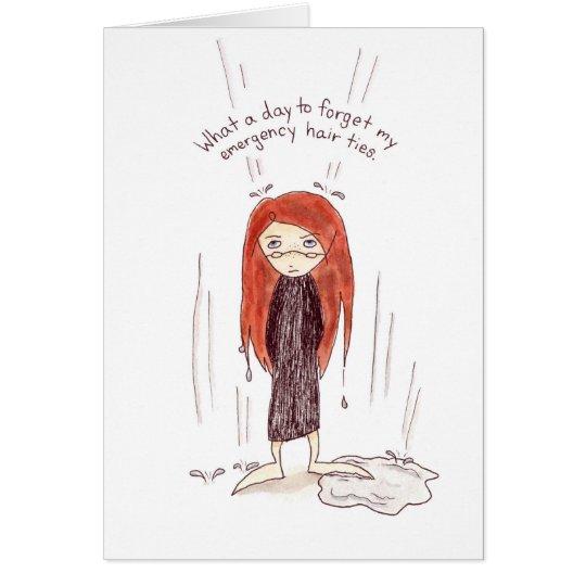 Mala tarjeta del día del pelo