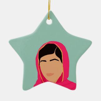 Malala Yousafzai Adorno Navideño De Cerámica En Forma De Estrella