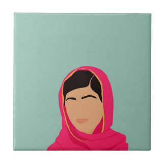 Malala Yousafzai Azulejo Cuadrado Pequeño