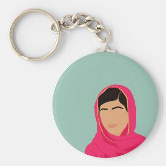 Malala Yousafzai Llavero Redondo Tipo Chapa