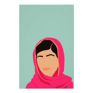 Malala Yousafzai Papelería Personalizada