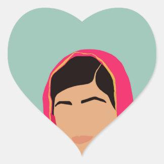 Malala Yousafzai Pegatina En Forma De Corazón
