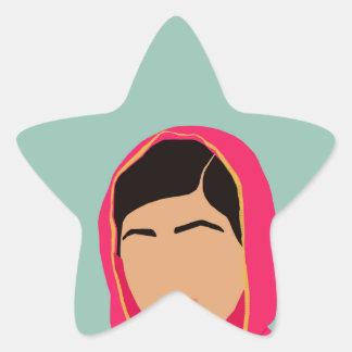Malala Yousafzai Pegatina En Forma De Estrella