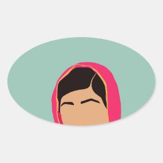 Malala Yousafzai Pegatina Ovalada