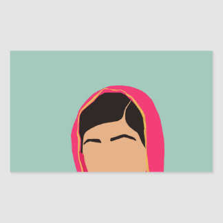 Malala Yousafzai Pegatina Rectangular