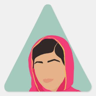 Malala Yousafzai Pegatina Triangular