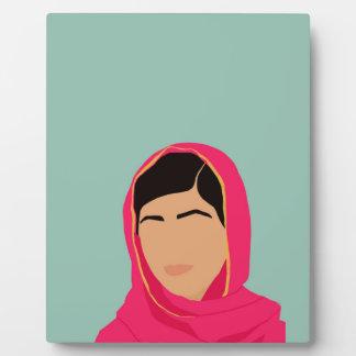 Malala Yousafzai Placa Expositora
