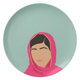 Malala Yousafzai Plato De Comida