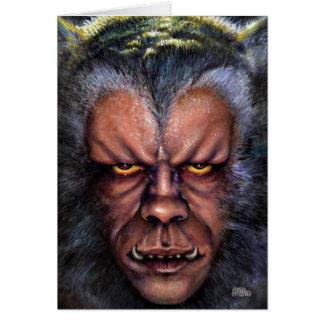 Maldición del hombre lobo tarjeta de felicitación