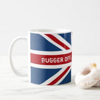 Maldiga de bandera de consumición de Reino Unido Taza De Café