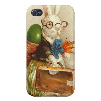 Maleta coloreada del huevo del conejito de pascua  iPhone 4/4S fundas