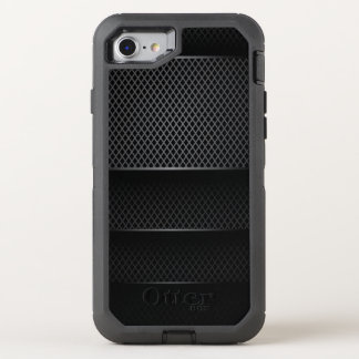 Malla negra del carbono - funda OtterBox defender para iPhone 8/7