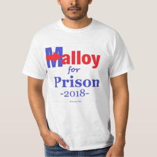 Malloy para el gobernador bilateral 2018 de Dannel Camiseta