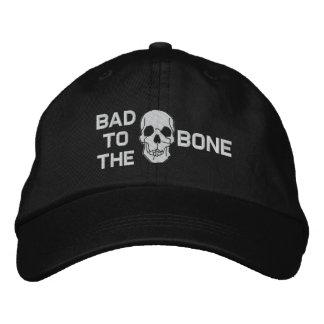 Malo al gorra bordado cráneo del hueso