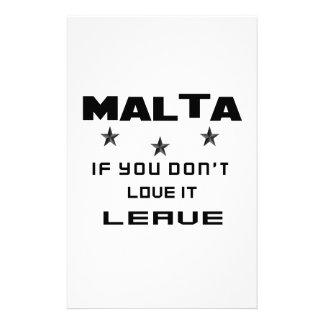 Malta si usted no la ama, se va papelería de diseño
