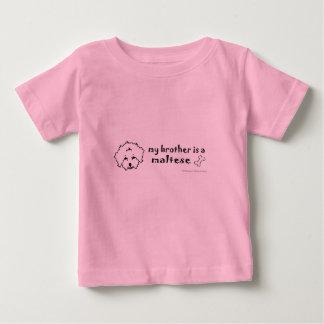 maltés camiseta de bebé