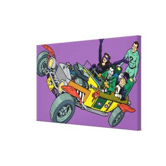 Malvados de Batman en Jokermobile Lona Envuelta Para Galerías