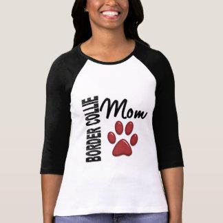 Mamá 2 del border collie camisetas