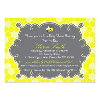 Mamá a la abeja, invitación de la fiesta de invitación 12,7 x 17,8 cm