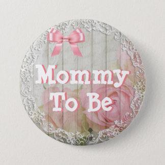 """Mamá a ser botón rosado """"elegante"""" lamentable de"""