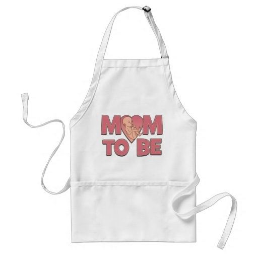 Mamá a ser de maternidad delantales