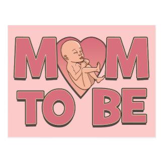 Mamá a ser de maternidad postal