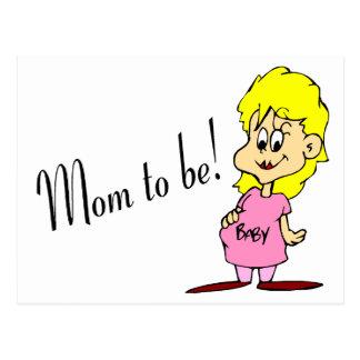Mamá a ser (mujer embarazada) postales