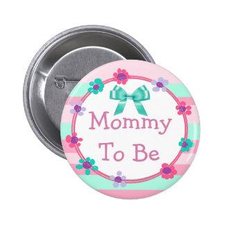Mamá a ser rosada, púrpura, botón de la fiesta de