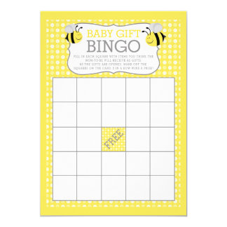 Mamá al juego del bingo del regalo del bebé de la invitación 12,7 x 17,8 cm