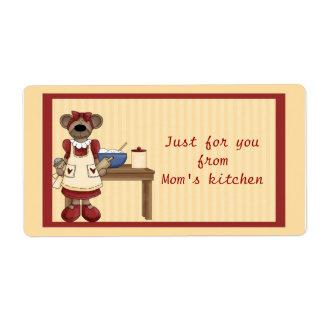 Mamá Bear Baking Etiquetas De Envío