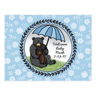 Mamá Bear y Cub, bebé agradable personalizado Postal
