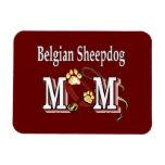 Mamá belga del perro pastor imanes rectangulares