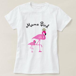 Mamá Bird Flamingo T-Shirt con un bebé Camiseta