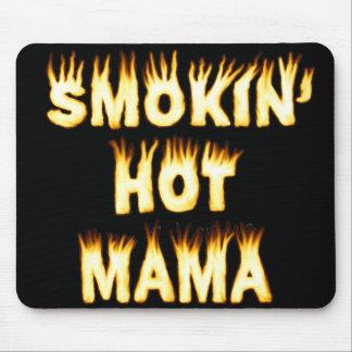Mamá caliente Funny Mother Flames de Smokin Alfombrilla De Ratón