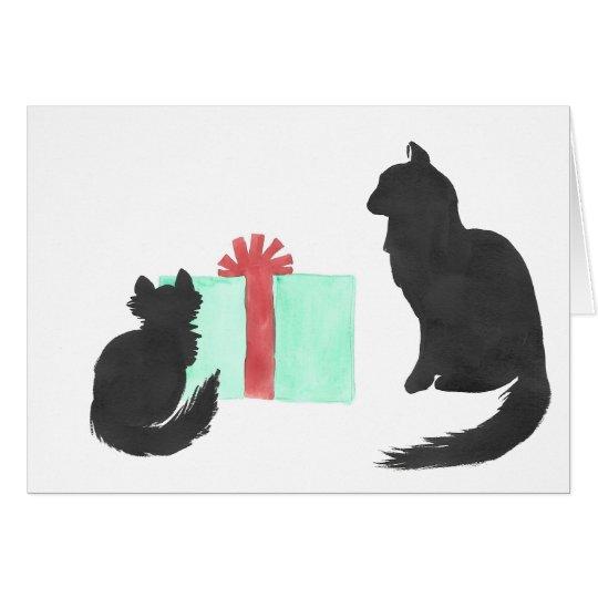 Mamá Cat y tarjeta del día de fiesta del gatito