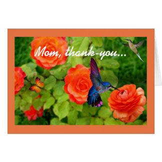 Mamá, de agradecimiento tarjeta
